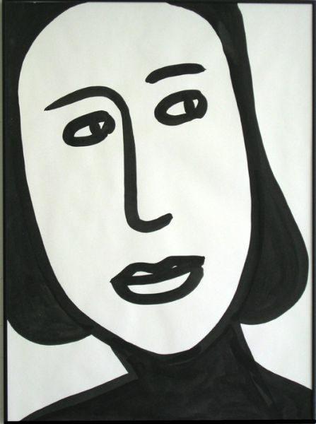 JOAN  ink on paper 22x30