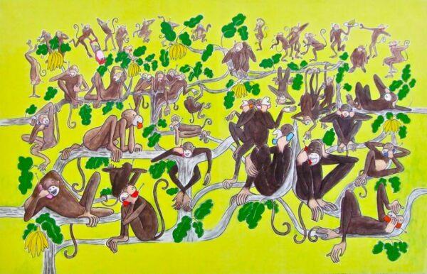 monkeys on phone 72