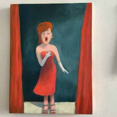 The Singer  10x12 oil on canvas SOLD