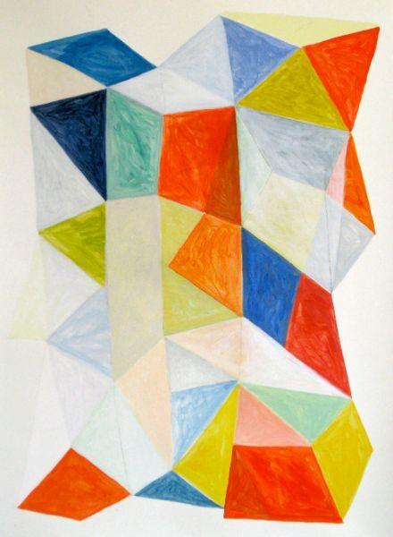 Prism  38 x 48   gouache, acrylic on paper