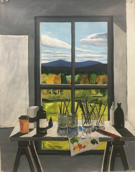 Studio View  43.5 x 55   acrylic on paper